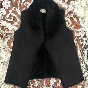 •LOFT• faux fur suede vest
